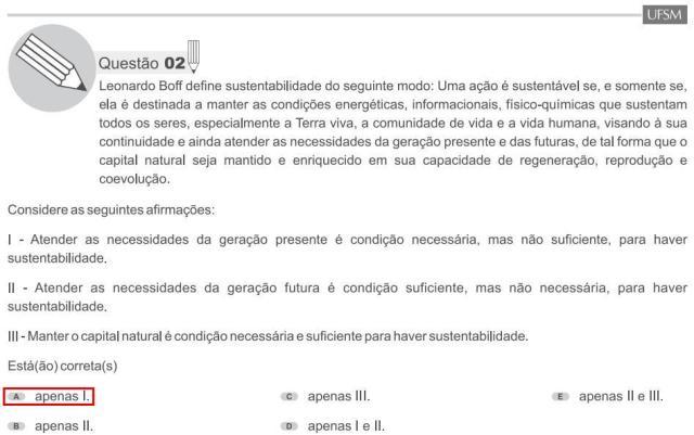O pensador brasileiro Leonardo Boff esteve presente nas páginas da prova de filosofia.